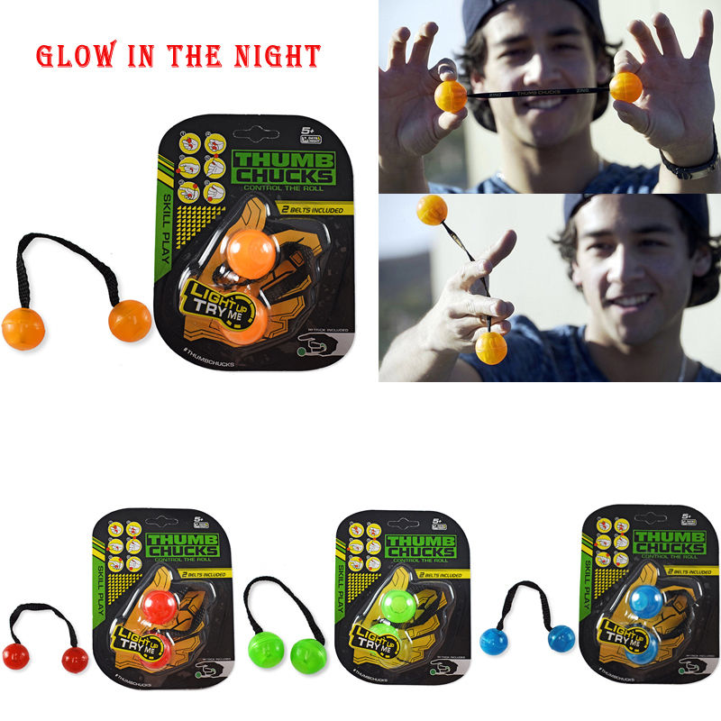 2017 New Fidget Toys Begleri Thumb Chucks Bundle Control Roll Game Glow in Dark Finger Yoyo Anti Stress Adult Kids Toys Gift