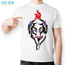 Fire Wolf Forward T Shirt White Design Japanese Anime Mange T-shirt Cool Novelty Funny Tshirt Style Unisex Printed Fashion Tee(China)