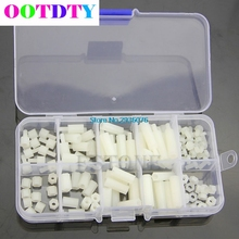 OOTDTY M3 Nylon Hex Spacers Screw Nut Assortment Kit Stand off Plastic Accessories Set MY2_30