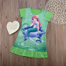 New Arrival Baby Girls Fancy Dress Cute Cartoon Dress Short Sleeve Summer Clothes Wear For Little Lady Princess Dress Hot Sale