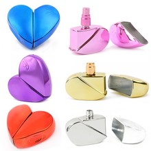 6PCS/LOT Hight Quality Heart Shape 25 ML Tavel Empty Refillable Perfume Spray Atomizer Perfume Bottle(China)