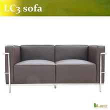 U-BEST le corbusier lc3 2 seat sofa in real leather,Corbusier LC3 Grand Modele 2 seater, kitchen pendants Sofa(China)