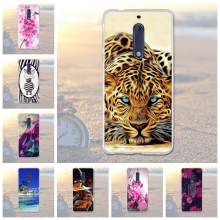 "Luxury Animal Flower Case for Nokia 5 5.2 "" Cases Soft Silicone Cover for Nokia 5 Nokia5 Fundas Coque Bags For nokia 5 Cover(China)"