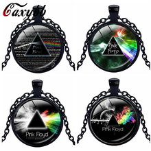 Caxybb Hot music band Pink Floyd Logo Llaveros Accesorios Cristal Collares Pendant silver necklace free delivery