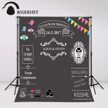 Allenjoy Custom blackboard Wedding Background Sweet love backdrop chalkboard DIY backdrop photocall Excluding bracket(China)