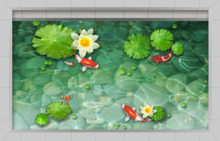 3D Bathroom Anti Slip Lotus Flower Pattern Floor Sticker Waterproof Shower   sticker for home   For Bathroom