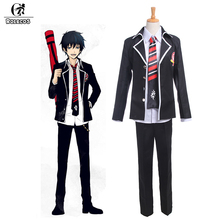 ROLECOS Anime Blue Exorcist Ao No Exorcist Cosplay Costumes Okumura Rin Cosplay Costumes School Uniforms Jacket Shirt Pants