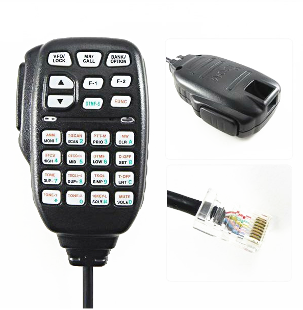 Portable 8 Pin Car Radio Handheld PTT DTMF HM-133 For ICOM Mobile Radio ID-800H ID-880H CB Transceiver IC-E880 IC-2720H IC-2725E(China (Mainland))