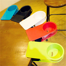 Lifesaver Desk Cup Holder Clip ABS Office Drinks Beverages Cupholder Plastic Home Table Storage Racks No Spills(China)