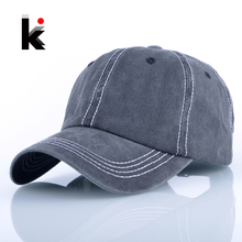 Outdoos Casual Hockey Golf Hats For Men Solid Washed Cotton Snapback Baseball Caps Women Hip Hop Gorras Masculino bone Casquette