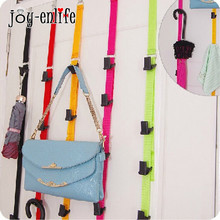 JOY-ENLIFE 1pcs Over Door Hanging Lanyard Hanger Handbag Coat Cloth Storage Organizer Hook Home Supplies