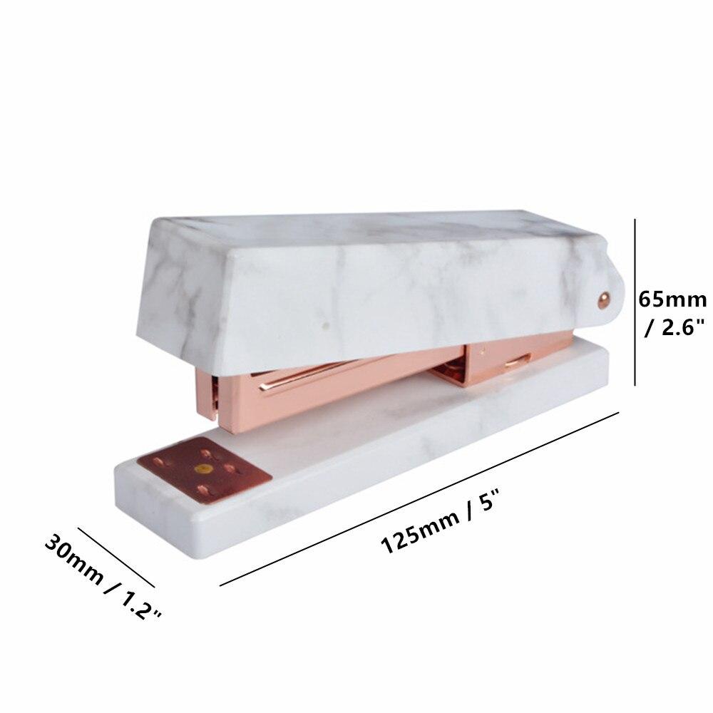 marble white stapler rose gold tone size
