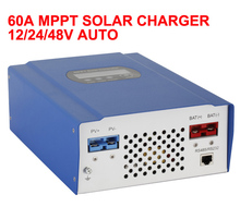 High Conversion Efficiency 60A 12/24/48V Auto Switch MPPT Solar Charge Controller  Regulator  with CE/Rosh