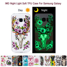 Luminous Night Light Soft TPU Cover Case For Samsung Galaxy S5 S6 S7 S8 Edge Plus J3 J5 J7 A3 A5 G530 Prime On7 On5 2016 2017