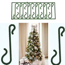 "Merry Christmas 10pcs/lot Christmas Tree Green ""S"" Shaped Hanging Hooks Wire Xmas Decoration Ornaments Supplies Wholesale"