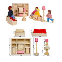 Pink Color Wooden Doll Bathroom Furniture Toy Doll house Miniature For Kids Child Play Toy Educational Toy Wooden Toys