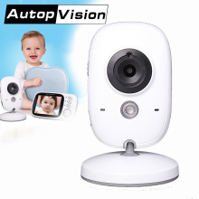 VB603 Baby Monitor 3.2 inch LCD IR Night Vision 2-way-Talk 8 Lullabies Temperature monitor video nanny video babys camer