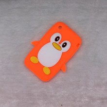 For iPhone 3 3G 3GS  Bag Luxury 3D Cute Cartoon Penguin Soft Silicon Back Cover Phone Case