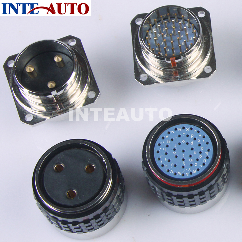OBD cable circular connector, automotive eletrical connector,3 pins and 41 pins, used for the BENZ automotive diagnostic cable <br>