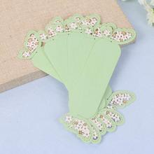 100pcs Green Paper Butterfly Napkin Ring Serviette Buckle Holder For Wedding Party Banquet Dinner Decoration