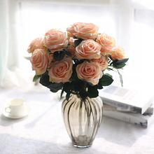 Hot 1 Bunch Artificial silk French Rose Floral Bouquet Fake Flower Arrange Table Daisy Wedding Home Decor Party accessory Flores(China)