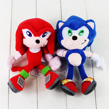 21-23cm Sonic The Hedgehog Plush Toy Super Sonic Red Blue Stuffed Animal Doll for Children(China)