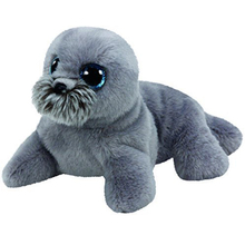 "Ty Beanie Babies 6"" Wiggy the Sea Lion Plush Beanie Boos Stuffed Animal Collectible Soft Big Eyes Doll Toy"