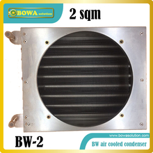 600W finned tube heat exchanger (sqm heat transfer area) working as condenser of water chiller or solar bottle cooler