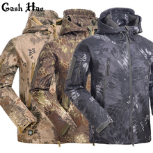 Tactical Snake Camouflage Army Jacket Men Military Shark V4.5 Waterproof Soft Shell Outdoors Jackets Fleece Camo Hunt Clothes(China)