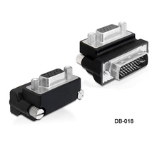 2PCS/lot Down Right Angled 90 Degree VGA SVGA Female To DVI 24+5 male DVI to RGB Adapter vga dvi connector adapter Free shipping
