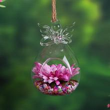 SOLEDI Angel Glass Vase Verre Terrarium Glass Containers Teraryum Vazen En Verre Hanging Glass Vase For Decoration Flower Stand