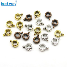 20pcs/lot Big Hole Zinc Alloy Metal Clasps & Hooks European beads Connectors For Jewelry Making hole 2mm