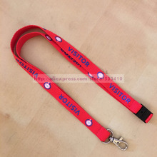 100pcs 1.5*90cm customized made silk screen print nylon lanyard & landyard with hook with Free shipping by DHL express