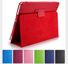 Matte Litchi Surface Flip PU Leather Case for apple Ipad Mini 1 2 3 with Retina Smart Stand Magnetic Sleep Wake UP Pouch Cover(China)