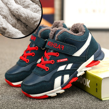 Hot Sale Winter Autumn Children Shoes Boys Casual High-Top Sneakers Girls Warm Boots Kids Snow Boots Size 28-39