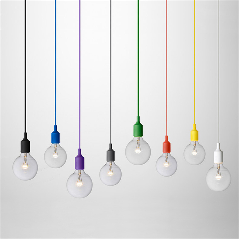 Colorful Pendant Lamp Modern Vintage Lighting for Edison Bulbs Bar Restaurant Bedrooms Home Decoration E27 Art  Lights H-02<br><br>Aliexpress