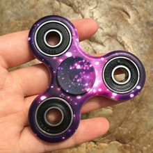 Purple Starry Sky Camouflage EDC Fidget Spinner Hand Tri Spinner Anti Stress Autism ADHD Finger Toy Kid Adults