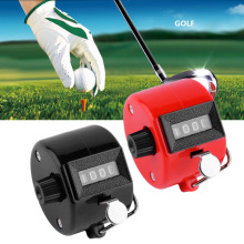 4 Digit Portable Convenient Plastic + Metal Hand Held Tally Counter Manual Palm Clicker Number Counting Golf