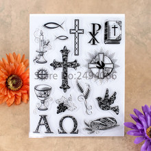Cross Bible Candle Grape Bird Scrapbook DIY photo cards account rubber stamp clear stamp transparent stamp 14x18cm 7051602(China)
