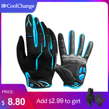 CoolChange 겨울 사이클링 장갑 Touch Screen 젤 자전거 장갑 Sport Shockproof MTB Road Full Finger 자전거 Glove 대 한 Men Woman(China)