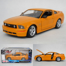 1:24 alloy car models, high simulation supercar Ford Mustang GT 2006, toy vehicles, high-end ornaments, free shipping