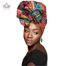 Latest African Fashion African Prints African Women Headtie Hair Accessories Ankara Headband SEGO Headtie 2 Pieces Set BRW 03(China)