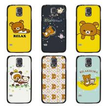 Cute rilakkuma bear Black Case Cover Scrub Shell Coque for Samsung Galaxy S3 S4 S5 Mini S6 S7 Edge Plus(China)