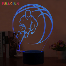 7 Colors Basketball Lamp USB 3D Night Light LED Kids Room Decorative Lamp as Novelty Gift 3D Lights(China)