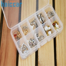 Home Supplies Hot Selling High Quality 10 Grids Adjustable Jewelry Beads Pills Nail Art Tips Storage Box Case drop shipping 0531