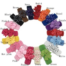 18pcs Crochet Bow Headbands Ploka dot Ribbon Hair Bow Hairbands for Hair Accessories