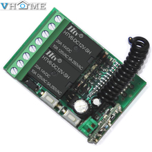 Vhome Wireless learning switch controller 1pcs 2CH DC 12V 2 CH 315MHz/433MHz Relay Receiver Module Wide range of applications