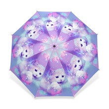 Unique Design Cat Parasol Umbrella 3 Folding Automatic Child Women Rain Umbrella Girl Lovely Animal Paraguas Gift Sombrinha(China)