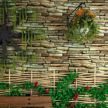 3D Rock Stone Brick Pattern Wallpaper Waterproof Retro Nostalgia Art Bar Restaurant Brick Wall Wallpaper Decor Papel De Pared 3D