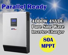 5KVA 4000w 48v 220v solar inverter with mppt solar charger 80A + 60A battery charger + genset starter(Taiwan)